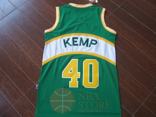 Classic Maillot NBA Seattle Supersonics NO.40 Shawn Kemp Vert