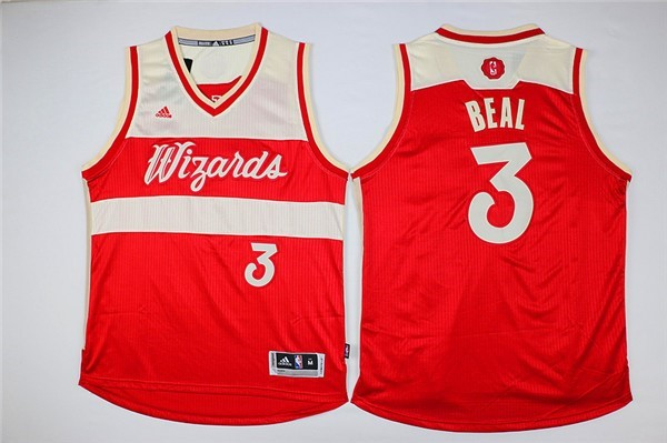 Classic Maillot NBA Washington Wizards 2015 Noël NO.3 Beal Rouge