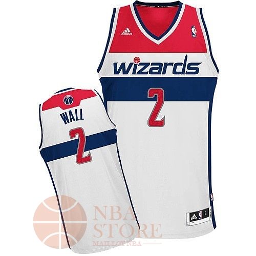 Classic Maillot NBA Washington Wizards NO.2 John Wall Blanc