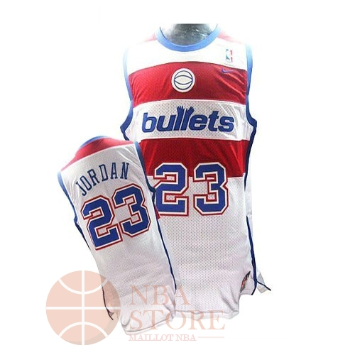 Classic Maillot NBA Washington Wizards NO.23 Michael Jordan Retro Blanc