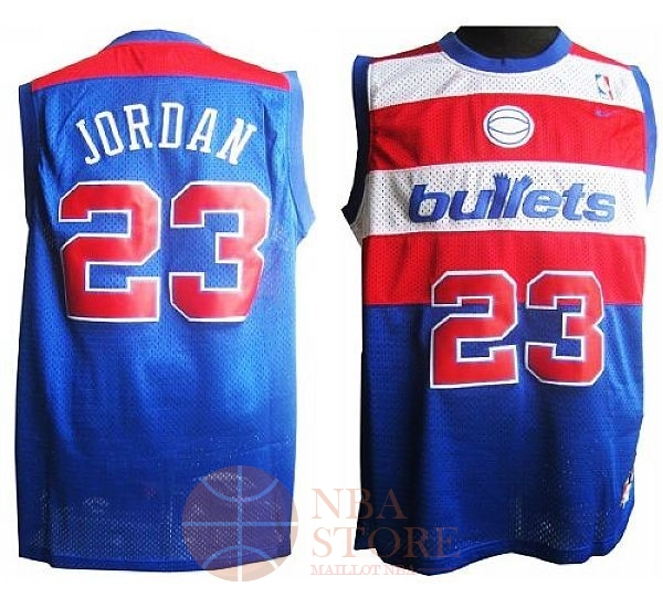 Classic Maillot NBA Washington Wizards NO.23 Michael Jordan Retro Bleu