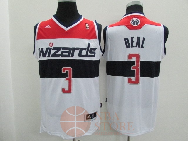 Classic Maillot NBA Washington Wizards NO.3 Bradley Beall Blanc