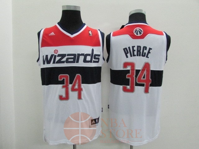 Classic Maillot NBA Washington Wizards NO.34 Paul Pierce Blanc