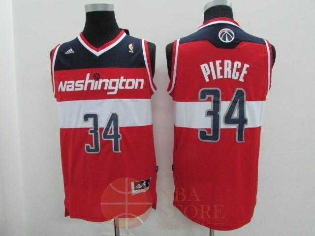 Classic Maillot NBA Washington Wizards NO.34 Paul Pierce Rouge