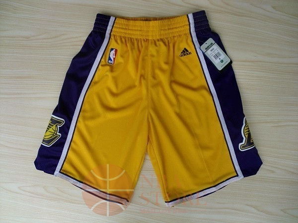 Classic Short Basket Los Angeles Lakers Jaune 2018