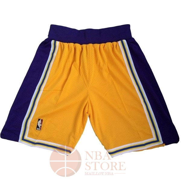 Classic Short Basket Los Angeles Lakers Jaune
