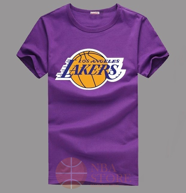 Classic T-Shirt Los Angeles Lakers Pourpre 003