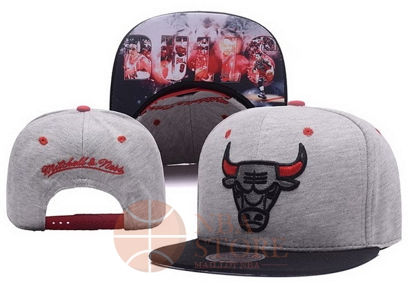 Classic Bonnet 2017 Chicago Bulls Gris NO.01