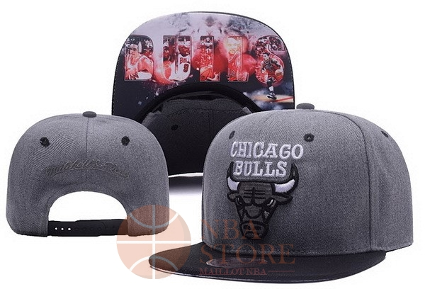 Classic Bonnet 2017 Chicago Bulls Gris NO.03