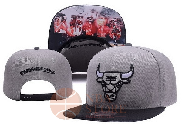 Classic Bonnet 2017 Chicago Bulls Gris NO.05