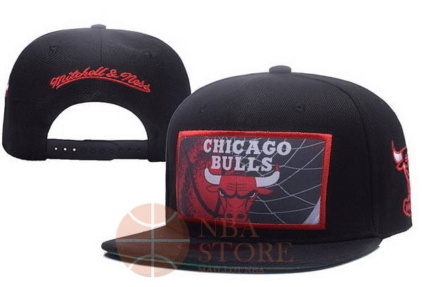 Classic Bonnet 2017 Chicago Bulls Rouge Noir NO.01