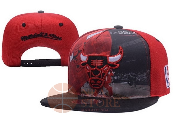 Classic Bonnet 2017 Chicago Bulls Rouge Noir NO.03