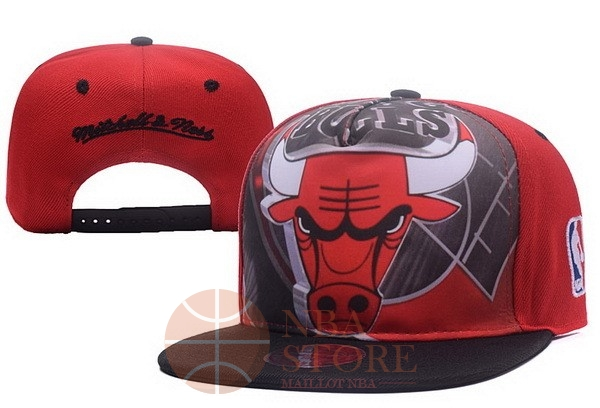 Classic Bonnet 2017 Chicago Bulls Rouge Noir NO.05