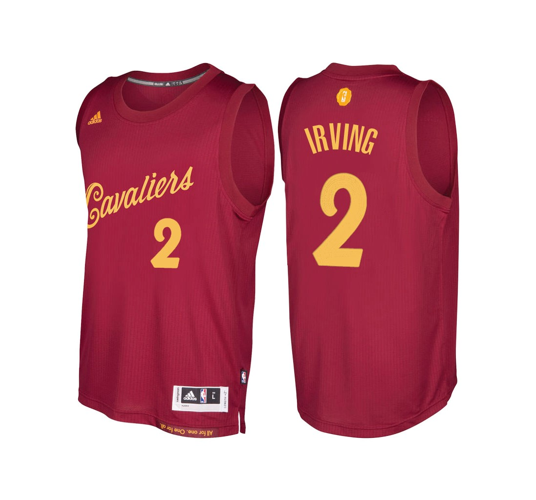 Classic Maillot NBA Cleveland Cavaliers 2016 Noël NO.2 Kyrie Irving Rouge