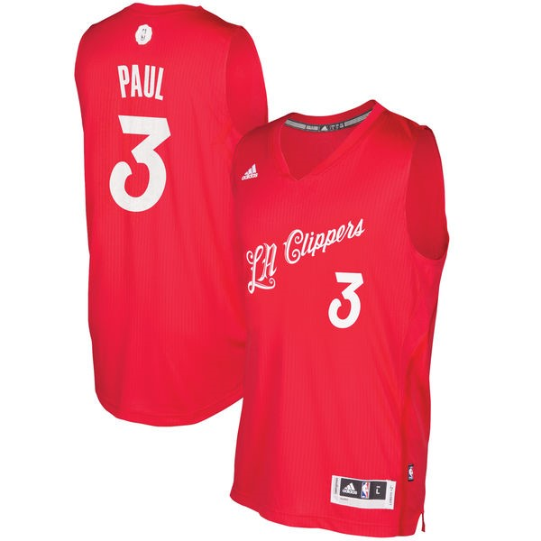Classic Maillot NBA Los Angeles Clippers 2016 Noël NO.3 Chris Paul Rouge