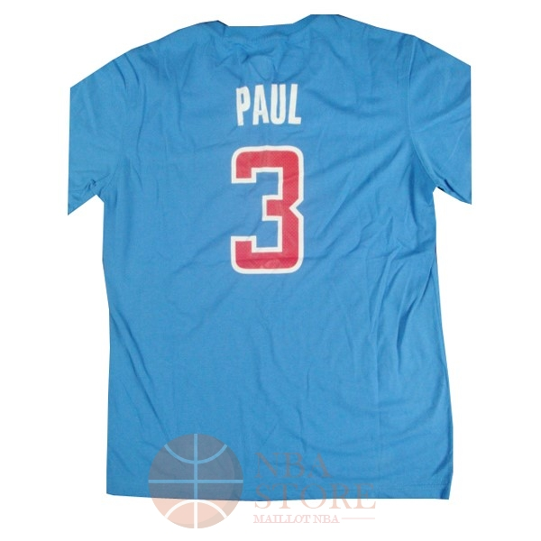 Classic Maillot NBA Los Angeles Clippers Manche Courte NO.3 Paul Bleu